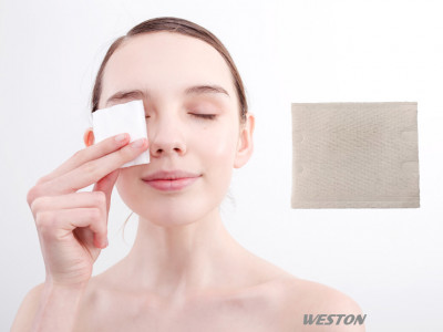 100% Organic Cotton Puff Makeup Facial Soft Cut Cotton Unbleached Cotton Pads