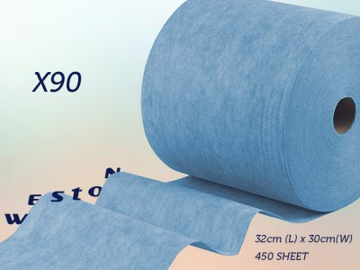 Weston X90 blue strengthed jumbo rolls 75% more oil absorption
