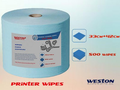 woodpulp spunlace perforated roll Lint free wipes for printer cleaning