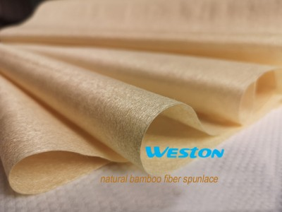 FDA HACCP certificated 100% natural color bamboo fiber spunlace