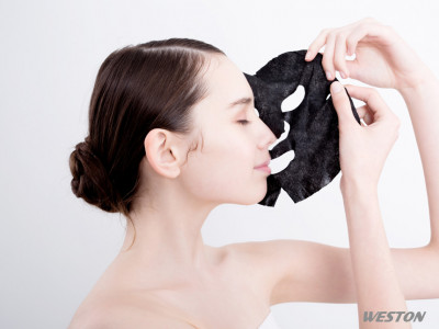 Black Cupro Black Tencel Black Viscose Spunlace Facial Mask Sheet