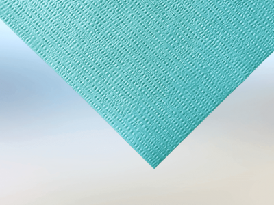 Woodpulp Polyester Embossed Turquoise Spunlace