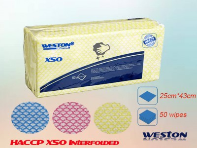 Wypall X50 7441, 7442, 7443, 7444 Similar interfolded cellulose spunlace wipe cloth
