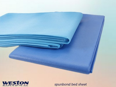Disposable spunbond pp medical bed sheet