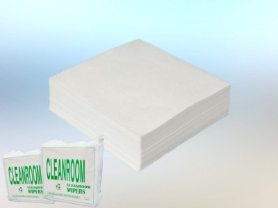 Wood pulp Polyester Spunlace Cleanroom Wipes
