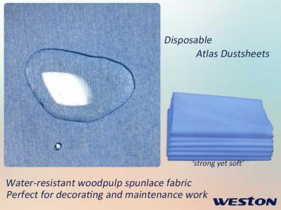 Weston Disposable Atlas Dustsheets Protection Coverall Furniture coverall