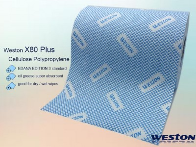 Weston X80 Plus Cellulose Polypropylene Spunlace Wipes