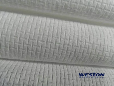 EF emboss woodpulp and viscose biodegradable spunlace nonwovens